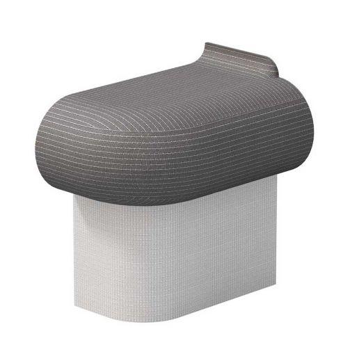 Terrific Wedi Sanoasa Bellina End Seat R200 Left Alphanode Cool Chair Designs And Ideas Alphanodeonline