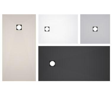 wedi Fundo Primo Top, central, white 1200x900mm
