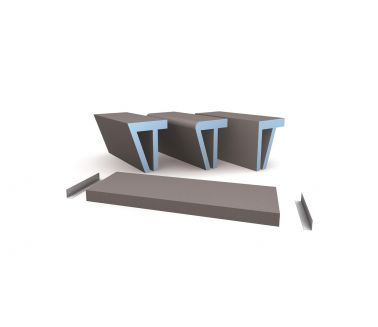 wedi Sanoasa bench 4, floating, 1200x380x80mm
