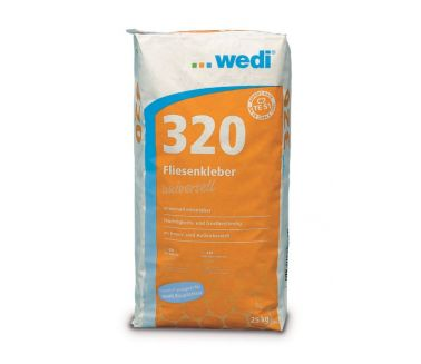 1. wedi 320, flexible cement based adhesive 25kg