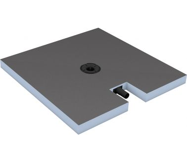 Fundo RioLigno Shower element with linear drainage for wooden floors 900x900x25mm channel 700