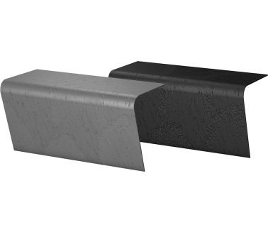 wedi Sanoasa Top ready-to-use surface n finish rounded for wedi Sanoasa bench 3, carbon black